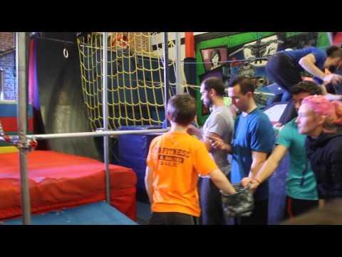 Owen at National Ninja League Preteen Stage 2 at GCA Parkour