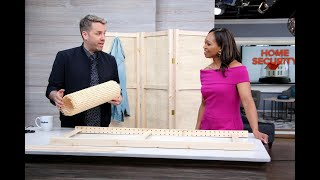 How to DIY a chic cane room divider in under an hour