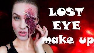 "ПРОСТОЙ грим ""выбитый глаз""/""lost eye"" EASY makeup for Halloween"