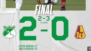 crónica deportivo Cali 2 Tolima 0 liga betplay futbol colombiano 2021