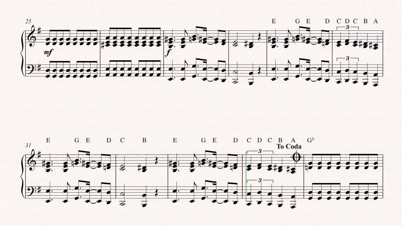Piano Seven Nation Army The White Stripes Sheet