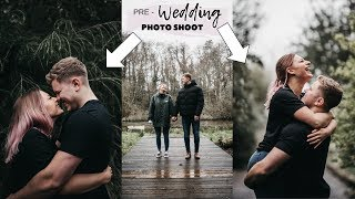Pre-wedding photoshoot *CRINGE* + choosing bridesmaid dresses!!
