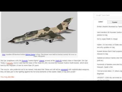 Iraq Crisis Russia Sends Military Aid Iran Sends 88 Sukhoi Fighter Planes