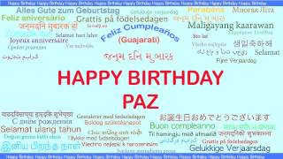 Paz   Languages Idiomas - Happy Birthday