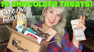EPIC Vegan Chocolate Haul - 19 Chocolates Treats MUKBANG