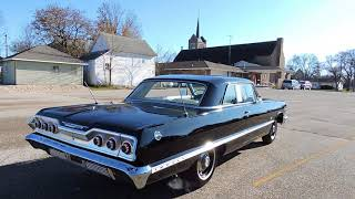 1963 chevy impala black for sale at www coyoteclassics com