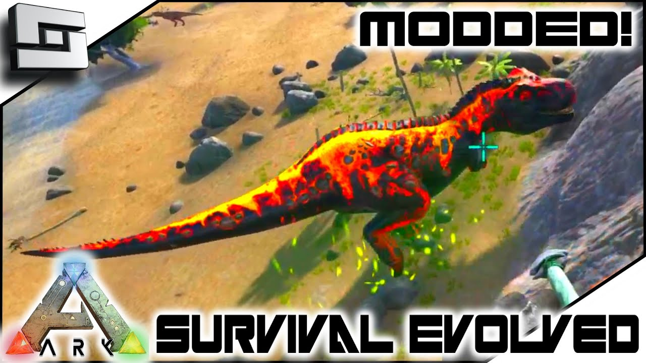 MODDED ARK: Survival Evolved   SUPER TREX TAMING FAIL! E2 ( Annunaki  Genesis Gameplay ) U2014 Sl1pg8r   Daily Stuff And Things!