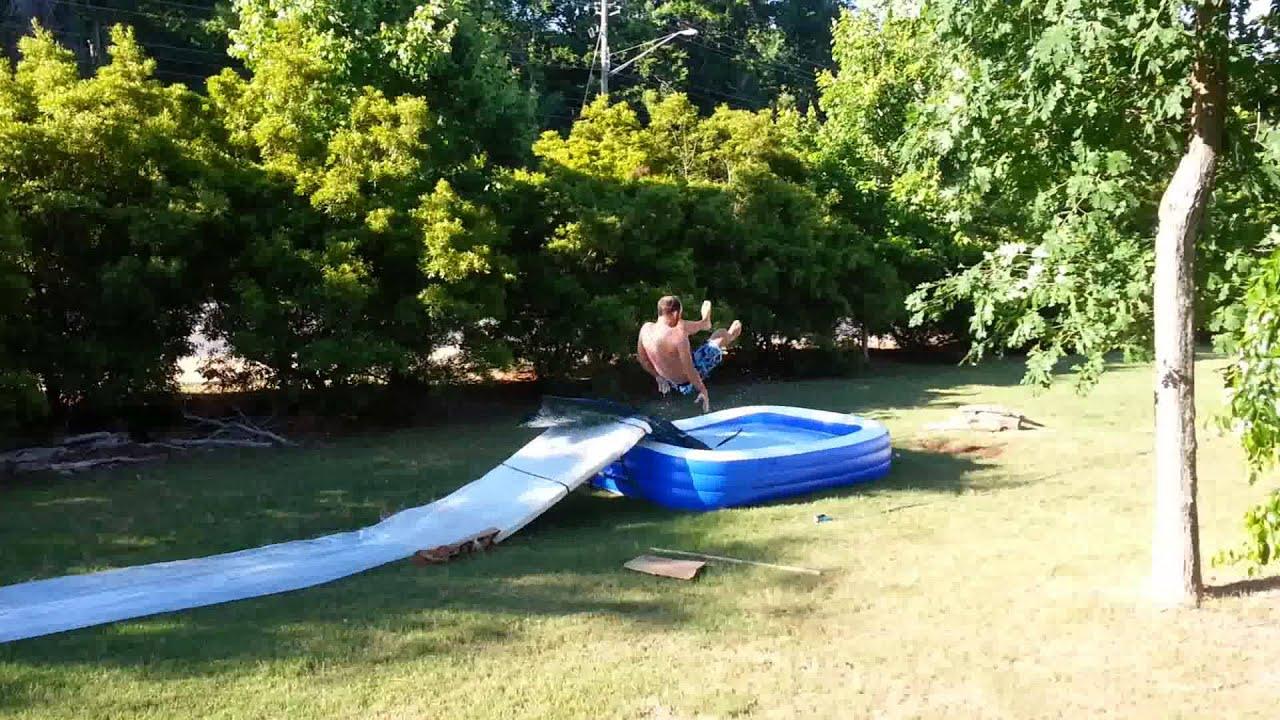 Backyard slip and slide - YouTube