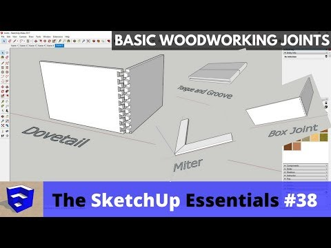 Creating Woodworking Joints in SketchUp – The SketchUp Essentials #38