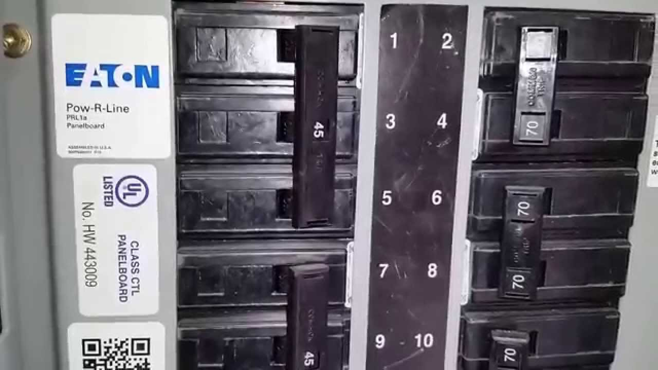 Cutler Hammer  Eaton Three Phase Panel  Neutral