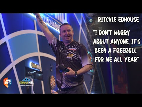 "Ritchie Edhouse: ""I don't worry about anyone, it's been a freeroll for me all year"""