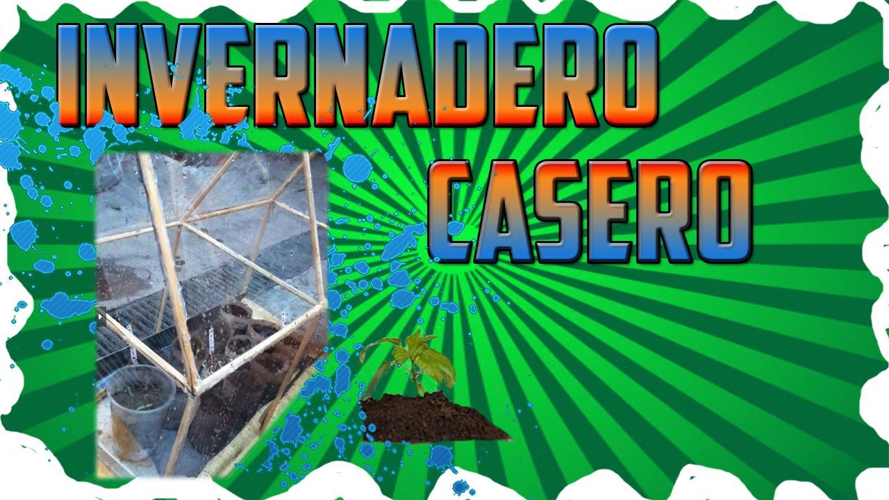 Como hacer un invernadero casero youtube for Como realizar un vivero