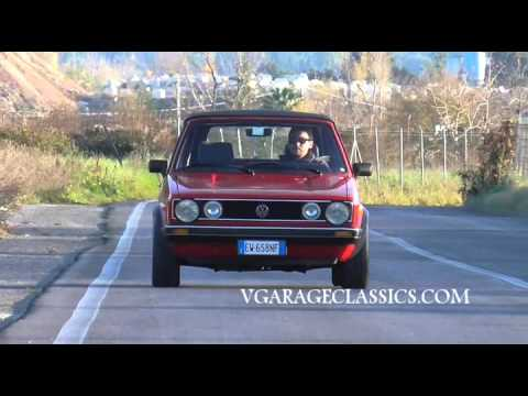 1987 VOLKSWAGEN GOLF CABRIOLET  V GARAGE CLASSICS  YouTube