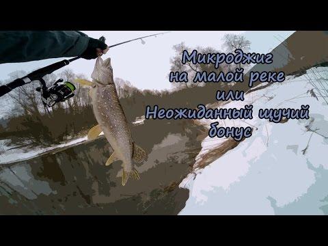 Микроджиг на малой реке или неожиданный щучий бонус