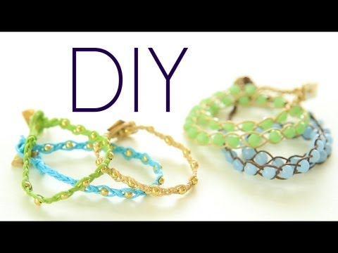 DIY Boho ArmCandy Wrap Bracelets {Easy} How to Make