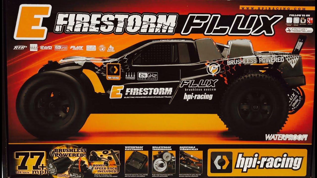 HPI Racing 1 10 E Firestorm Flux RTR UNBOXING & FIRST LOOK