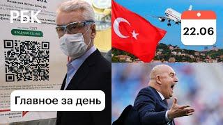 В ресторан по QR коду Москва вводит новые ограничения Турция открыта Реформы в футболе
