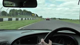Saab 9-5 Aero overtakes Ferrari! Castle Combe 15/6/10
