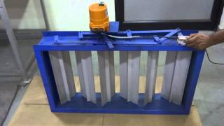 """""""Cair"""" Electrically Actuator Operated Multi Louver Blade Damper for HVAC Zone - MOTORIZED DAMPER"""