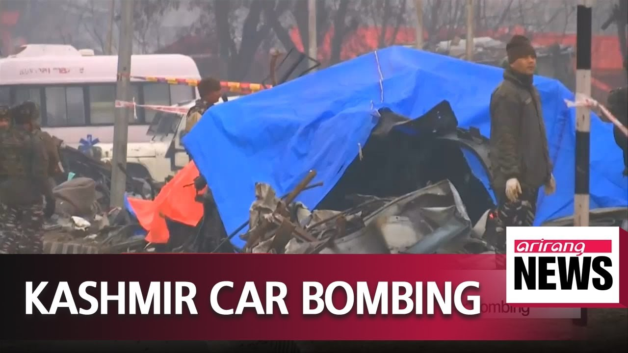 at least 40 indian paramilitaries killed in kashmir car bombing