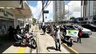 Trabalhadores de entrega por aplicativos pararam e fizeram atos pelas ruas de Belém