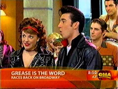 "Laura Osnes and Max Crumm sing ""You're the One That I Want"" from the Grease Revival"