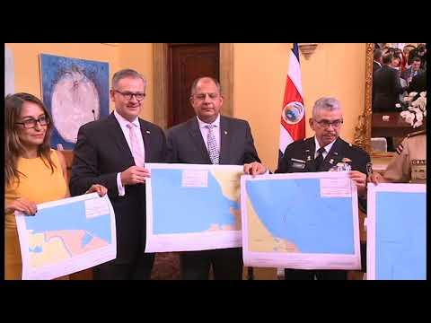 Costa Rica presentó nuevo mapa con nuevos límites marítimos más, tras fallo de la CIDH