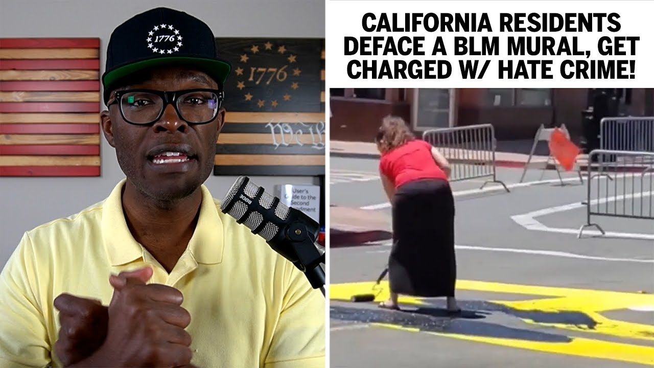 California Residents Deface BLM Mural, Get Charged With Hate Crime!