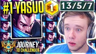 I'M LITERALLY THE #1 YASUO NA!!!!!!!!!!!! vs. MOE - Journey To Challenger   League of Legends