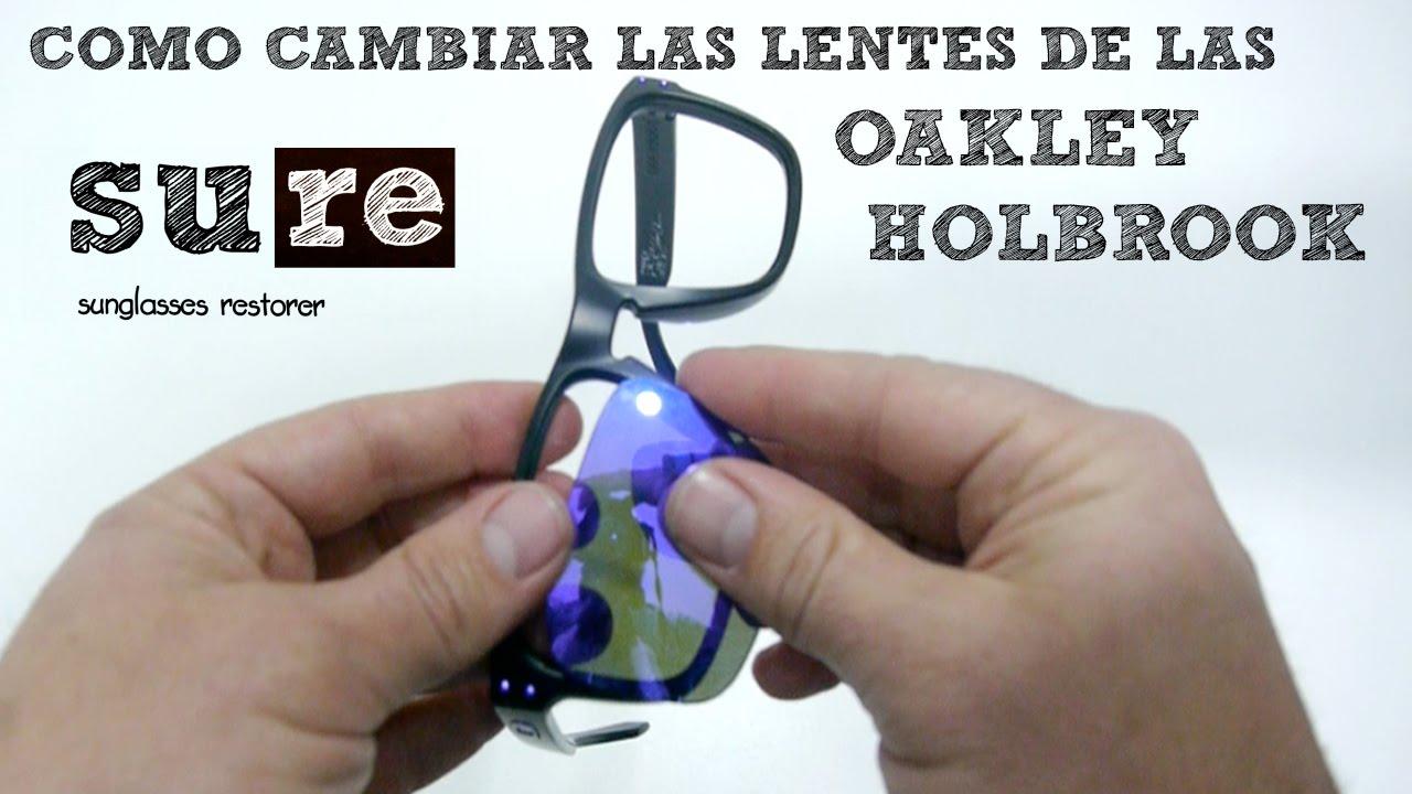 Lentes Oakley Holbrook – Cómo cambiar los cristales - YouTube