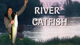 Fishing for CATFISH in RIVER/ Риболов на СОМ з ВОБЛЕР/ WELS ANGELN am Fluss/ Pesca de SILURO