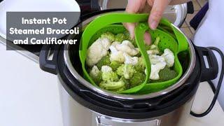 Instant Pot Steamed Broccoli and Cauliflower | Avokado Steamer Basket | Pressure Cooker Recipe