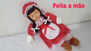 Faça você mesmo uma linda Boneca toda  feita a mão sem máquina de costura com Cris Pinheiro/Diy/