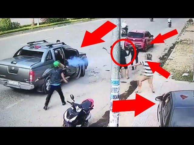 Cận cảnh CLIP vụ NỔ SÚNG, CHÉM NHAU KINH HOÀNG giữa phố ở Đồng Nai | Toàn cảnh 24h