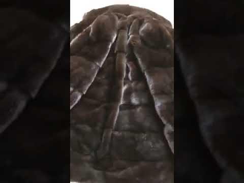 Норковая шуба, поперечка, Турция, горький шоколад, 46-48, цена 22500грн