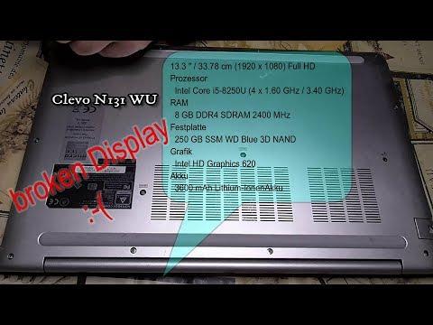 Business Clevo N131WU Notebook zerlegen nach Sturz Display gebrochen