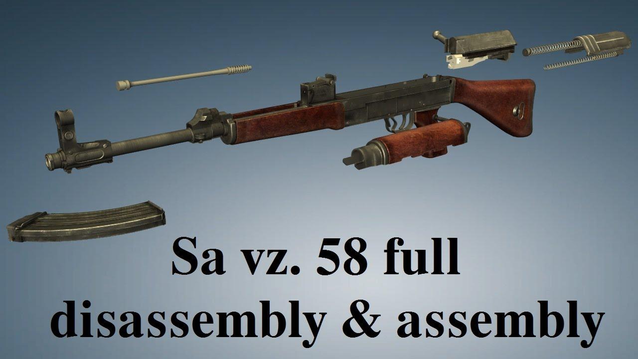 Sa vz  58: full disassembly & assembly
