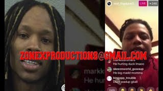 Chiraq Rapper King Von FROM Jail says he finna slide on FBG Duck if he comes to trial!