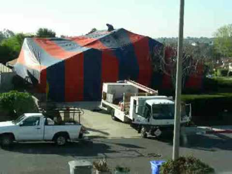 House-Tenting for Fumigation - Timelapse - YouTube
