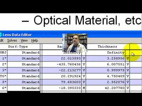 Zemax Tutorial - 1 - Lens Data Editor Interface