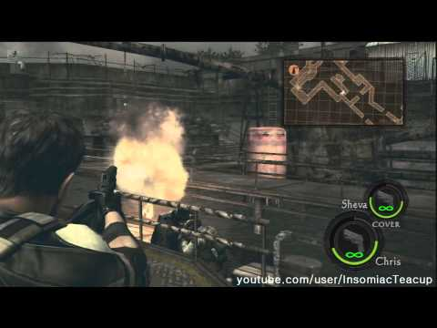 RESIDENT EVIL 5: Chapter 3-3 'Oil Field - Drilling Facilities' (Handgun)