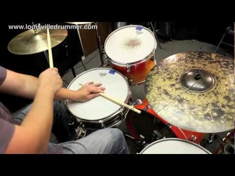 How to play drums - Cascara with 3-2 Rumba Clave