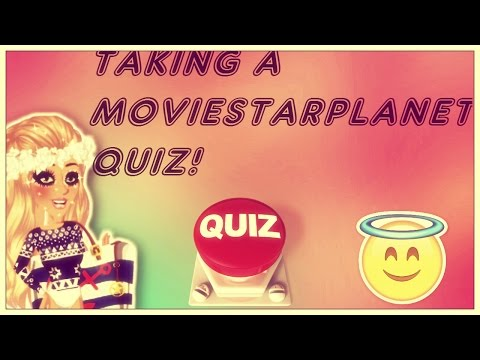 Taking a Moviestarplanet Quiz! -How much do I know?!!!!-