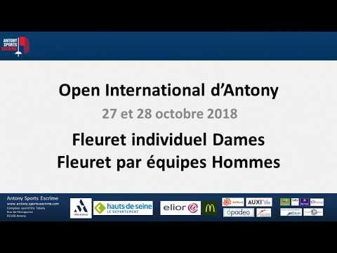 CHALLENGE INTERNATIONAL D'ESCRIME - OPEN D'ANTONY 2018 - FINALE FLEURET DAMES