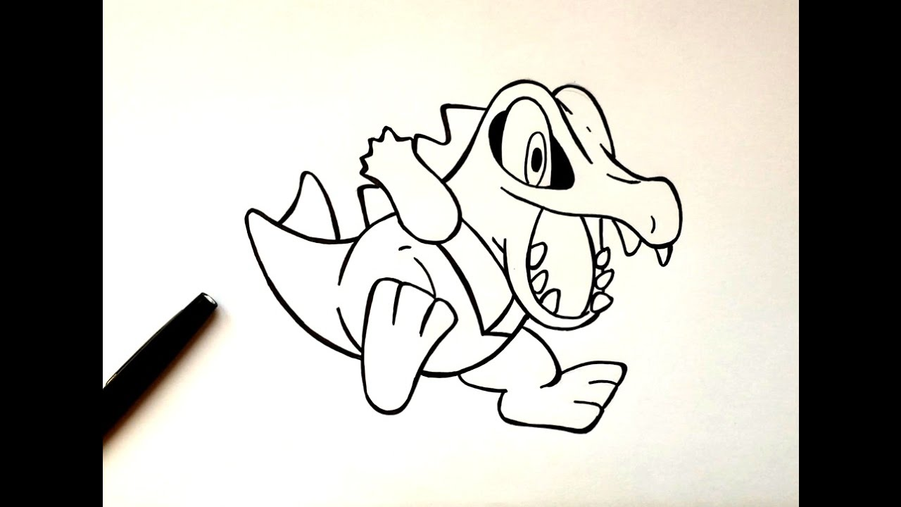 Uncategorized How To Draw Totodile how to draw totodile youtube totodile
