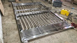Steel gate design for home | New modern steel gate design | diy steel gate tools | how to make gate