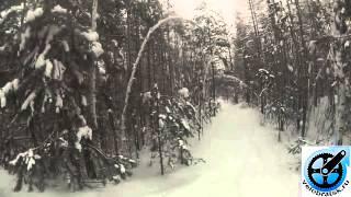 Зимний велосипед: дорога и горка(Братск,по горе Солдатской и вниз с неё. Покрышки у снимающего не шипованные, температура -21С. В конце видно,..., 2014-01-29T13:38:39.000Z)