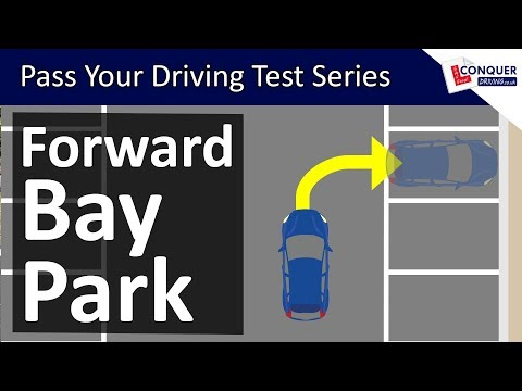 Forward Bay Parking Easy Tips & Reference Points - Driving Test Manoeuvre