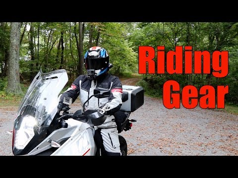 Cross Country Motorcycle Trip - Riding Gear - 동영상