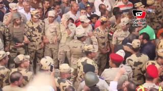 أهالي البحيرة يشيعون العقيد رامى حسنين بجنازة عسكرية
